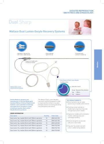 Wallace Dual Lumen Oocyte Recovery Systems
