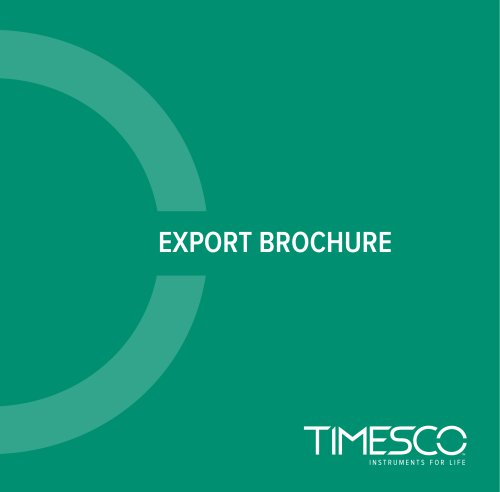 Anaesthesia Export Brochure 2020