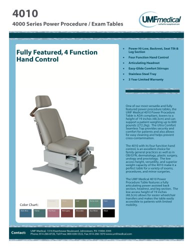 4010 - UMF Medical - PDF Catalogs   Technical Documentation