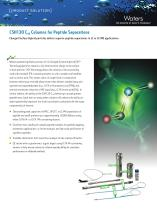 CSH130 C18 Columns for Peptide Separations Brochure