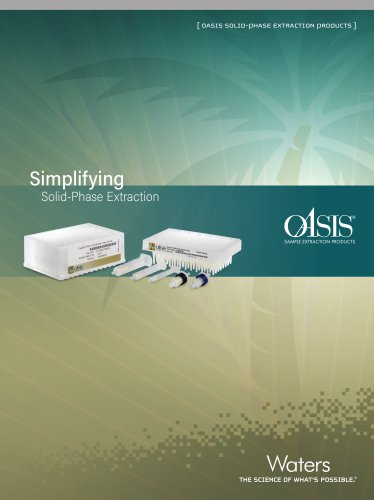 OASIS SOLID-PHASE EXTRACTION PRODUCTS
