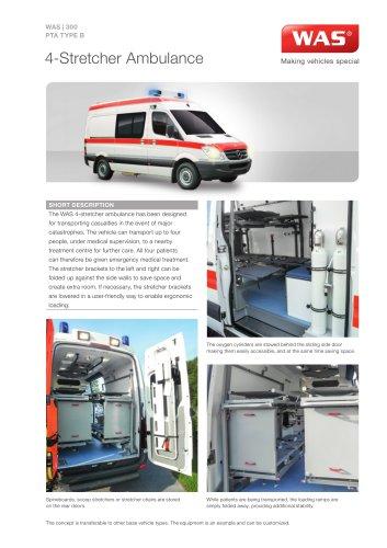 WAS 300 4-Stretcher Ambulance Mercedes-Benz Sprinter Panel Van Type B 3.88 T
