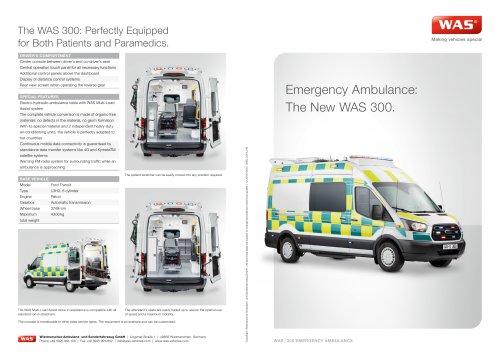 WAS 300 Emergency Ambulance Ford Transit Panel Van 4.3 T