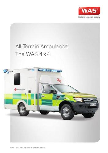 WAS 4x4 All Terrain Ambulance Ford Ranger Box Body 3.5 T