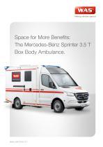 WAS 500 Ambulance Mercedes-Benz Sprinter Box Body 3.5 T - 1