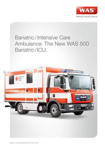 WAS 500 Bariatric / Intensive Care Transport Ambulance MAN TGL Kofferaufbau 7.49 T
