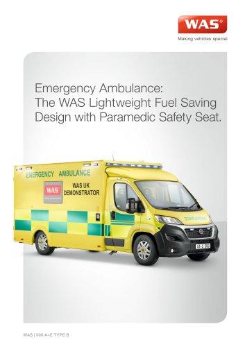 WAS 500 Emergency Ambulance Fiat Ducato Box Body Type B, A+E Lightweight 4.25 T