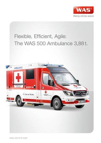 WAS 500 Emergency Ambulance Mercedes-Benz Sprinter Box Body Type C 3.88 T