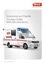 WAS 500 Emergency Ambulance Volkswagen Crafter Box Body 5 T - 1