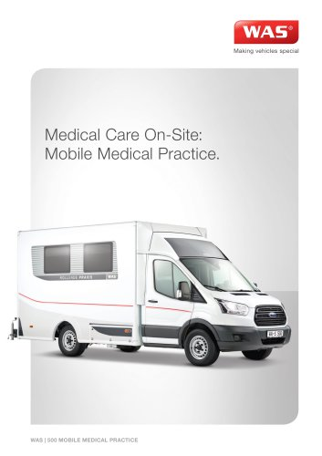 WAS 900 Mobile Medical Practice Mobile Medical Practice Ford Transit Box Body 3.5 T