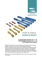 Catalogue Z-Screws Cannulated - 1