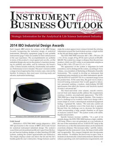 2014 IBO Industrial Design Awards