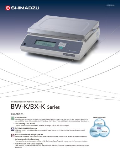 Catalog BW-K/BX-K Series