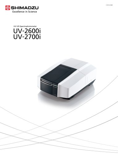 UV -VIS Spectrophotometer UV -2600i UV -2700i
