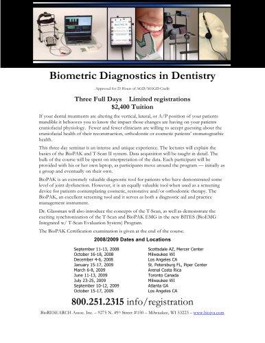 Biometric Diagnostics in Dentistry
