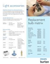 Light Accessories & Replacement Bulb Matrix