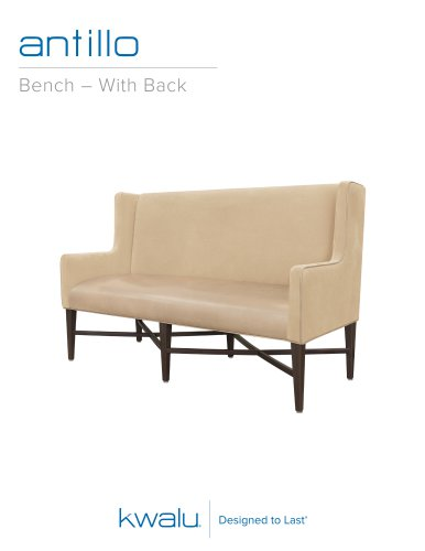 Antillo Bench - With Back