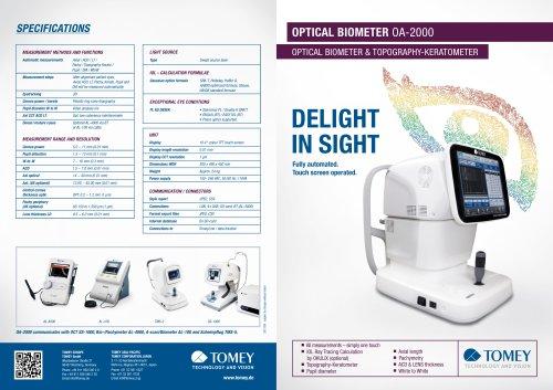 OPTICAL BIOMETER OA-2000