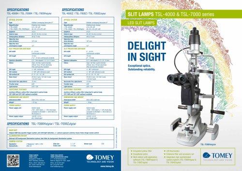 SLIT LAMPS TSL-4000 / TSL-7000 series