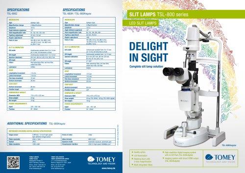 SLIT LAMPS TSL-800 series