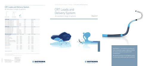 CRT Leads and Delivery System