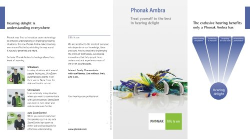 Consumer Flyer Phonak Ambra