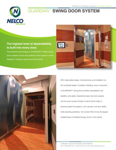 Radiation Shielding Swing Door
