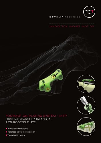 FOOTMOTION PLATING SYSTEM - MTP FIRST METATARSO-PHALANGEAL ARTHRODESIS PLATE