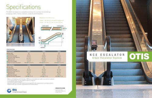 NCE escalator - Otis - PDF Catalogs | Technical Documentation