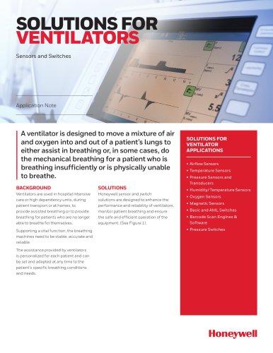 Honeywell Sensing - Medical Solutions for Ventilators