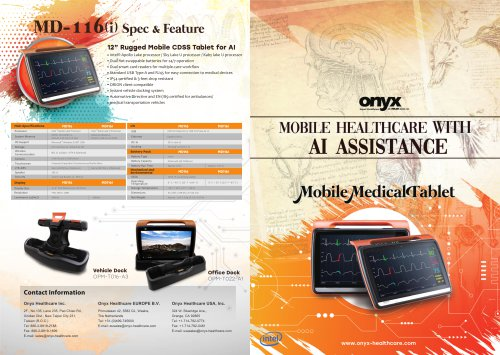 Mobile Medical Tablet AI Brochure