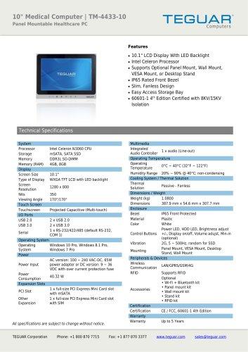 "10"" Medical Computer | TM-4433-10"