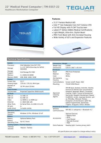 "22"" MEDICAL PANEL COMPUTER | TM-5557-22"