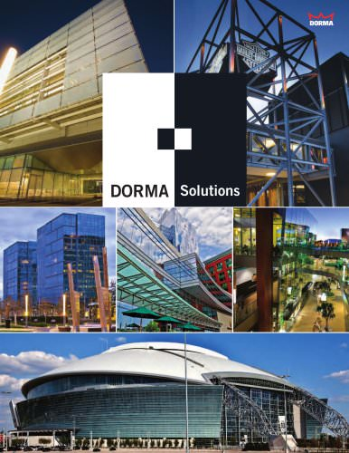 DORMA Solutions Brochure - dormakaba - PDF Catalogs