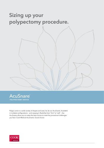 AcuSnare® Polypectomy Device Datasheet