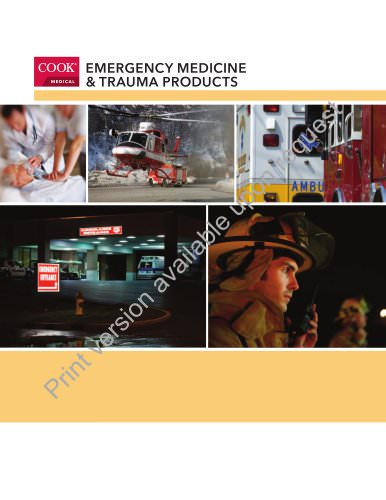 Emergency Medicine & Trauma Products