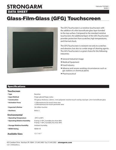STRONGARM Glass-Film-Glass (GFG) Resistive Touchscreen