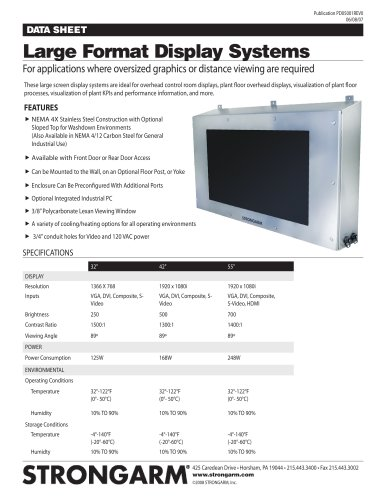 STRONGARM Large Screen Display Systems