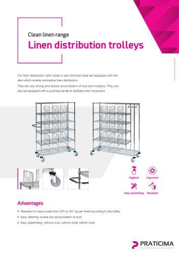 Chromed shelves & trolleys