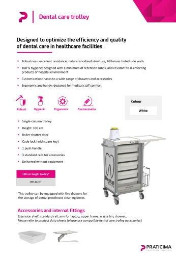 Dental care trolley