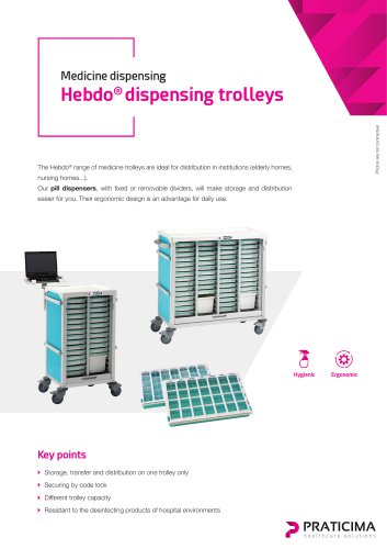 Hebdo dispensing trolleys