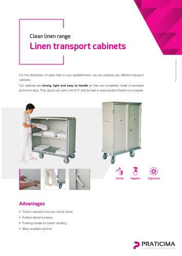 Linen transport cabinet