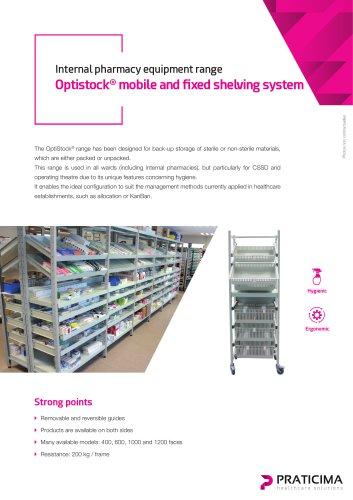Optistock shelving system