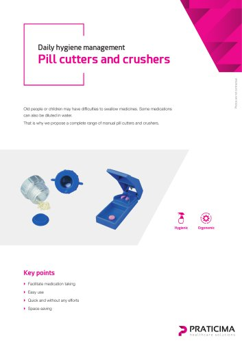 Pill cutters and crushers