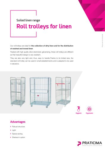 Roll trolleys for linen