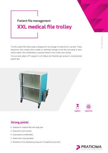XXL medical file trolleys
