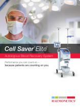 Cell Saver Elite Autologous Blood Recovery System