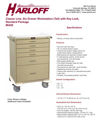 6450 – PROCEDURE CART