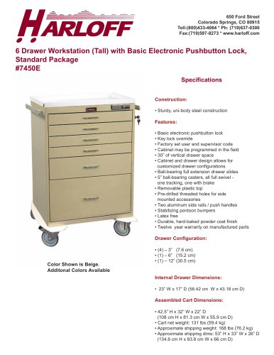 7450E – PROCEDURE CART