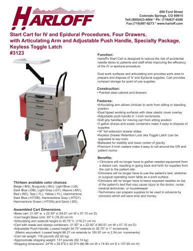 IV/Epidural Start Carts